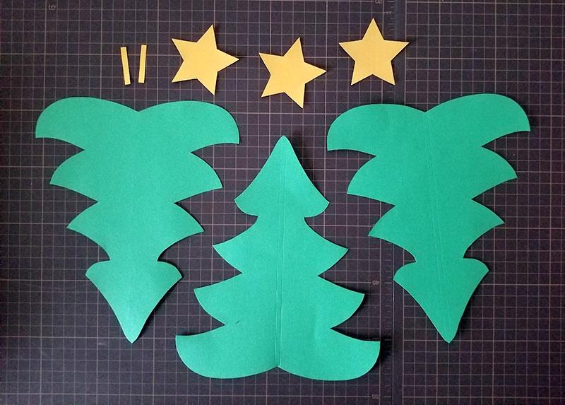 画用紙で作る!簡単ペーパークリスマスツリーの作り方 きりぬく
