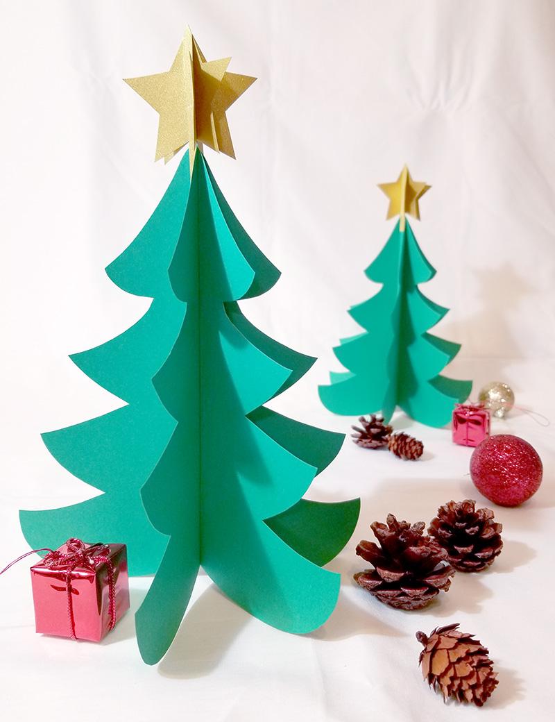 画用紙で作る!簡単ペーパークリスマスツリーの作り方 完成イメージ写真