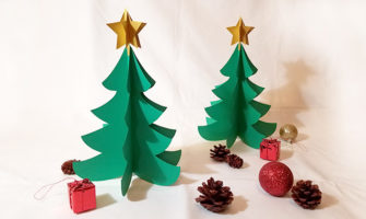 画用紙で作る、ペパークリスマスツリーの作り方