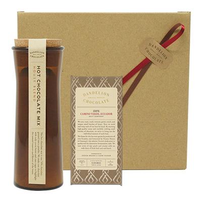 ダンデライオンチョコレート オンライン限定ギフトセット ホットチョコレートミックス+カミーノ・ベルデ, エクアドル 85%