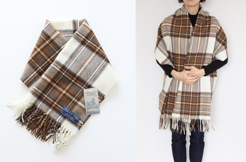 Highland Tweeds(ハイランドツィード) ストール NATURAL DRESS STEWART