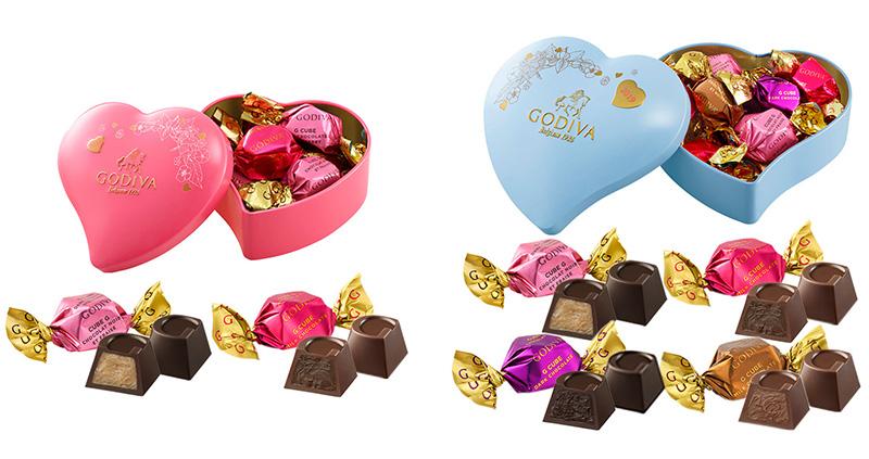 ゴディバ バレンタインチョコレート2019 G キューブ アソートメント ハート缶
