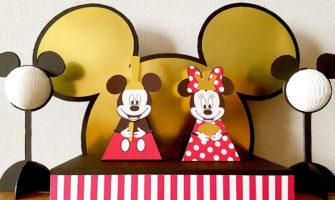 ディズニーキャラクター・ミッキー&ミニーの雛人形 手作り ハンドメイド 画用紙