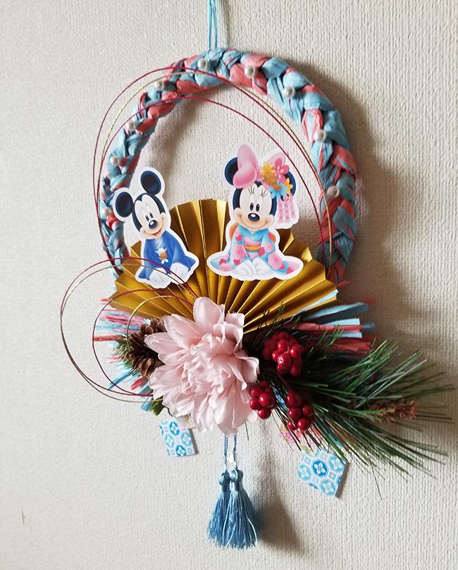 ミッキー&ミニーのお正月飾り 手作り ハンドメイド