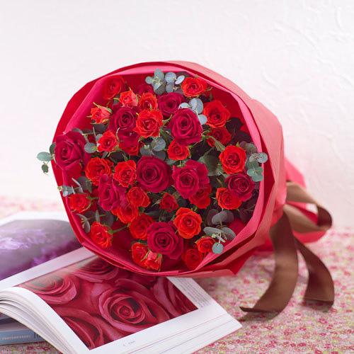 花束「ローズレッド」 退職祝いの花束