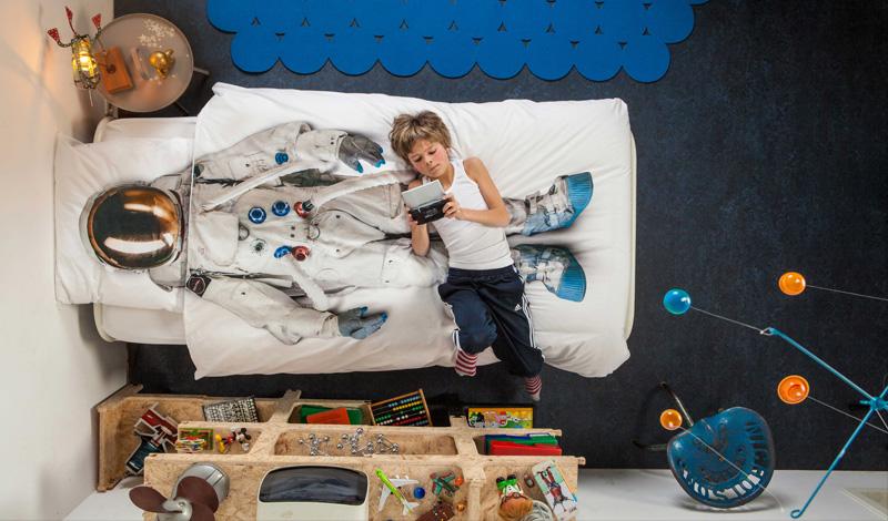 snurk 宇宙飛行士のベッドカバー 布団カバー