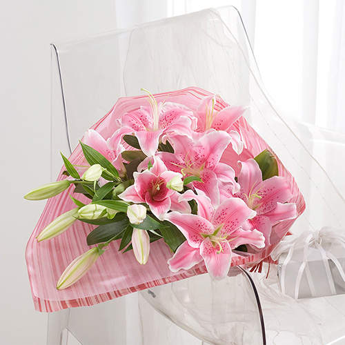 花束「プレミアムリリー」 退職祝いの花束