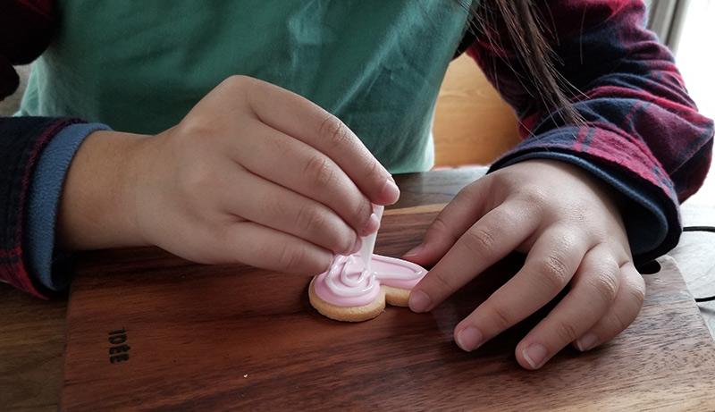 バレンタインの手作り代行アイシングキット