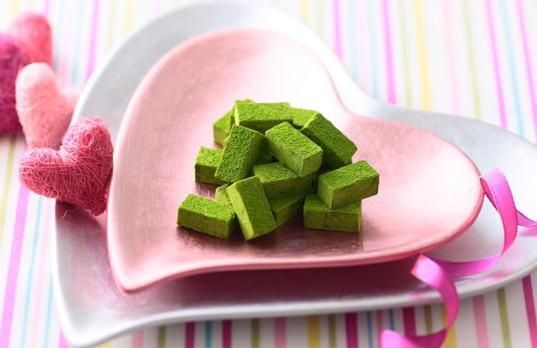 伊藤久右衛門の「宇治抹茶生チョコレート」バレンタインチョコレートイメージ