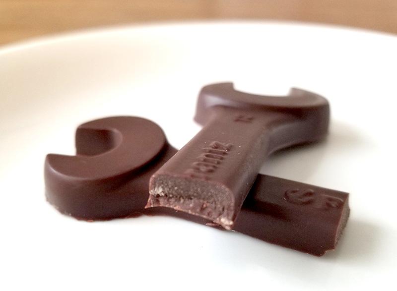 工具チョコを食べてみた感想 断面