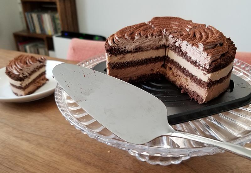 ルタオのバレンタイン限定チョコレートケーキ ディスク 食べてみた感想