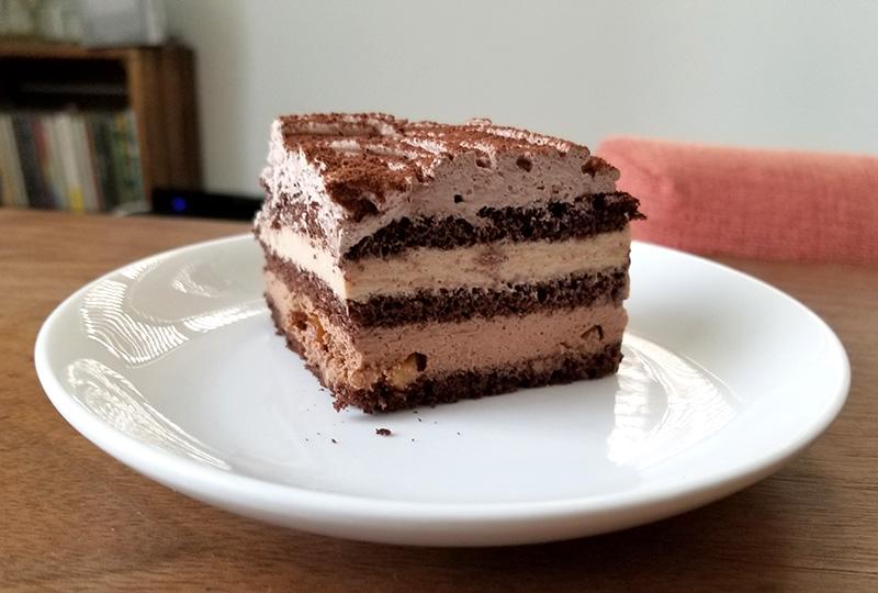 ルタオのバレンタイン限定チョコレートケーキ ディスク 食べてみた感想 1ピース