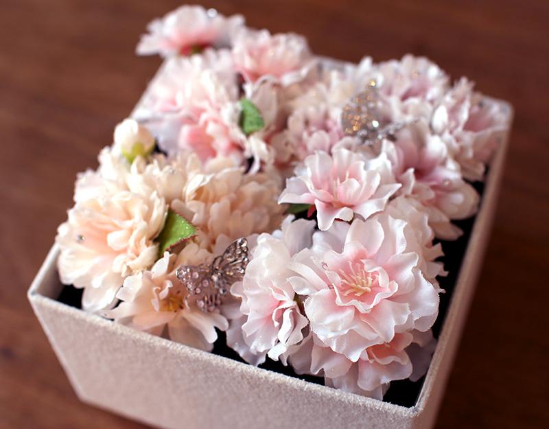 桜のボックスアレンジメント