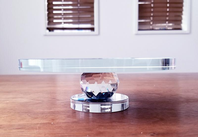 プロポーズ・シンデレラのガラスの靴 桜ピンク ディスプレイ専用のクリスタルミラースタンド  商品レビュー 口コミ 感想
