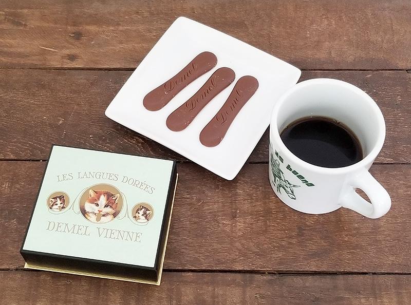 デメル(DEMEL)ソリッドチョコ 猫ラベル・ミルクを食べてみた感想