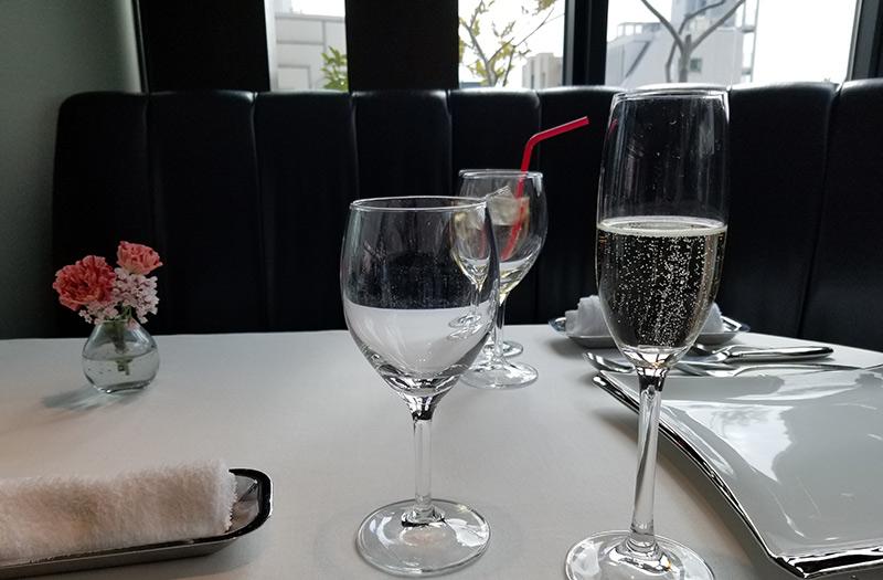 葉山庵Tokyo 乾杯ワイン