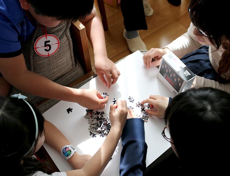 「逃走中」をテーマにした誕生日パーティー アクティビティ パーティーゲーム ハンターパズル