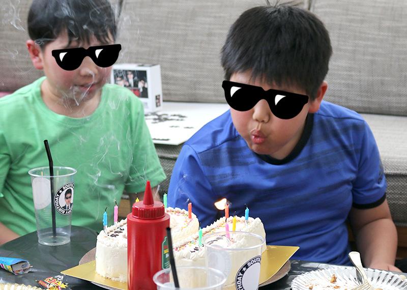 「逃走中」をテーマにした誕生日パーティー アクティビティ パーティーゲーム ケーキ