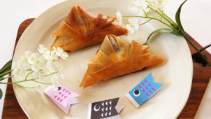端午の節句・こどもの日を楽しく美味しく!「3種の味の兜春巻き」のレシピ・作り方