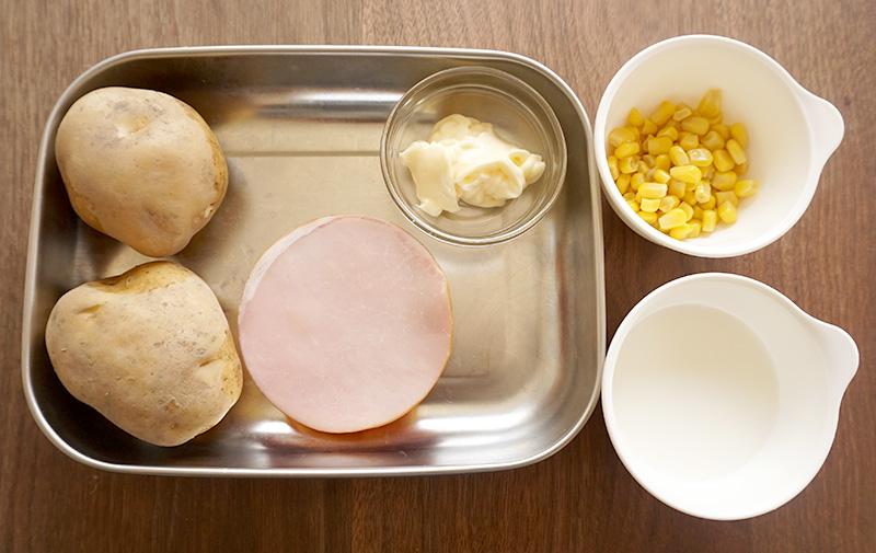 マッシュポテトの材料(作りやすい分量)|兜春巻きの作り方レシピ