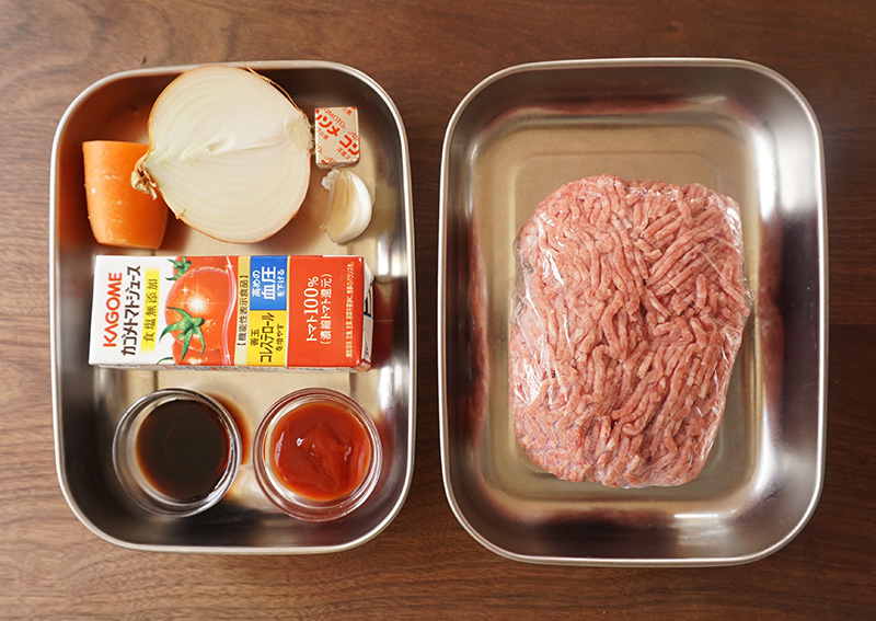 ミートソースの材料(作りやすい分量)|兜春巻きの作り方レシピ