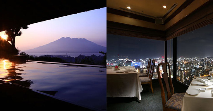 67位|SHIROYAMA HOTEL kagoshima(城山ホテル鹿児島) 夜景がキレイなホテルランキング