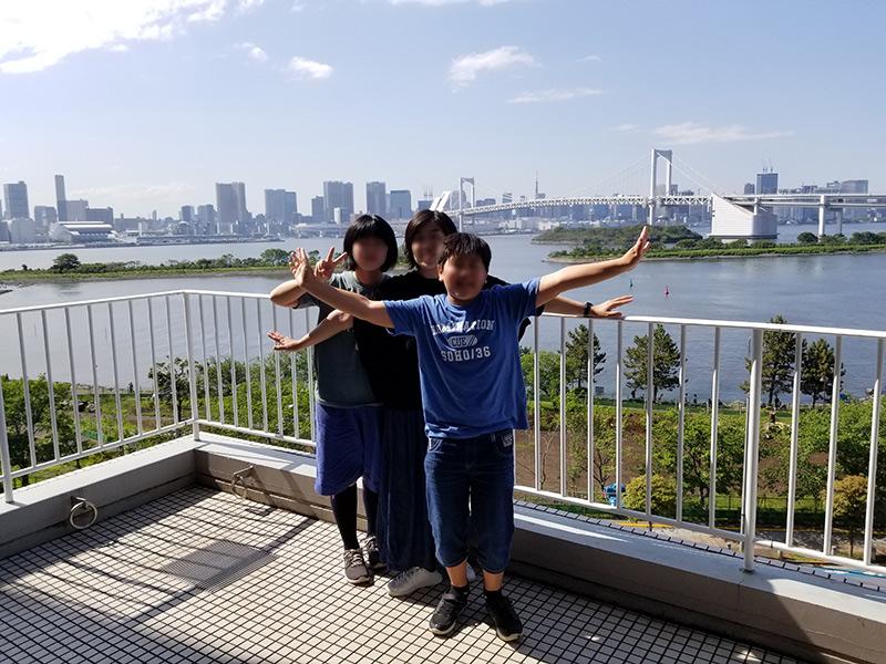 ヒルトン東京お台場から見える昼間の景色