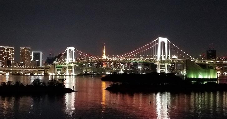 ヒルトン東京お台場から見える夜景