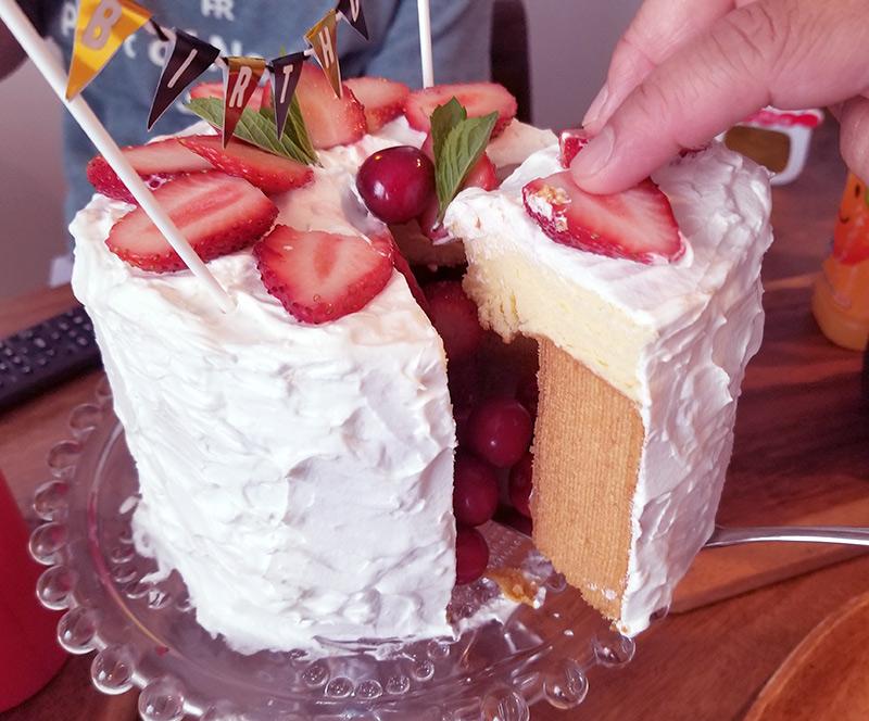 「かくれんぼケーキ」の作り方