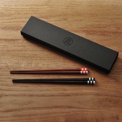 MARUNAO(マルナオ)森の調べ 夫婦箸縞セット (黒檀・ 紫檀)