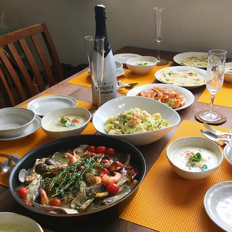 ホームパーティー料理 お刺身とフルーツの組合がオシャレ!帆立とキウイフルーツのコールスローのレシピ・作り方