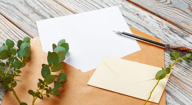手紙を書くイメージ