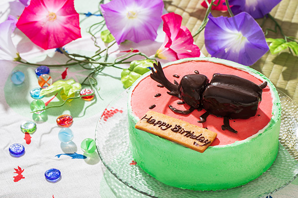立体カブトムシケーキ おもしろケーキ