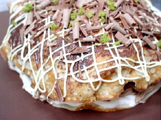 立体お好み焼き風ケーキ おもしろケーキ