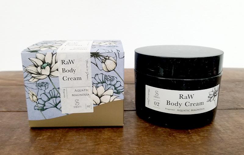 SWATiの人気ボディケアシリーズ「MARBLE label」のRaw body Cream 入れ物