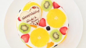フルーツ断面ケーキ