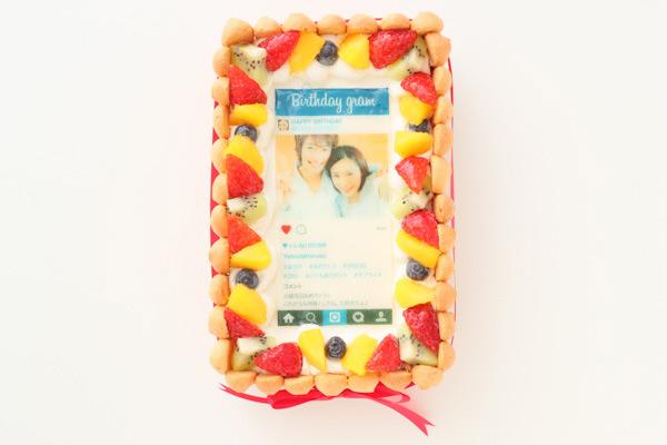 インスタグラム風フレームの写真ケーキ  おもしろケーキ
