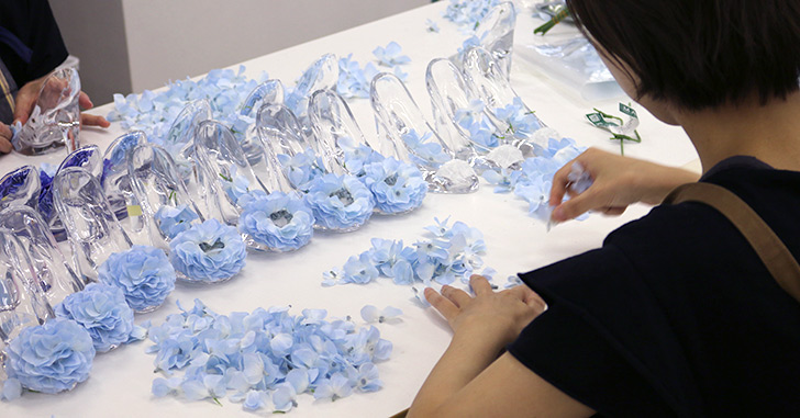 メリアルーム ガラスの靴 制作風景