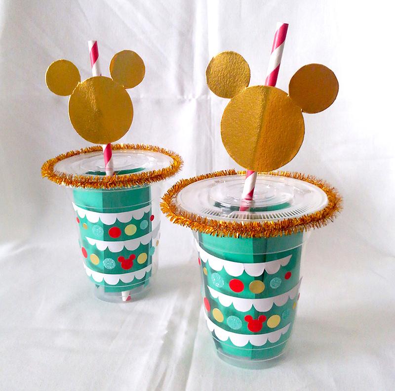 ミッキーのクリスマスカップ&ストロー