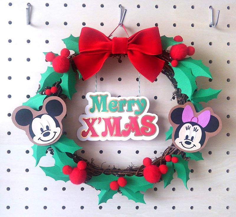 ミッキーのクリスマスリース