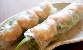 いろいろ巻いて美味しい楽しい!海老の生春巻のレシピ・作り方
