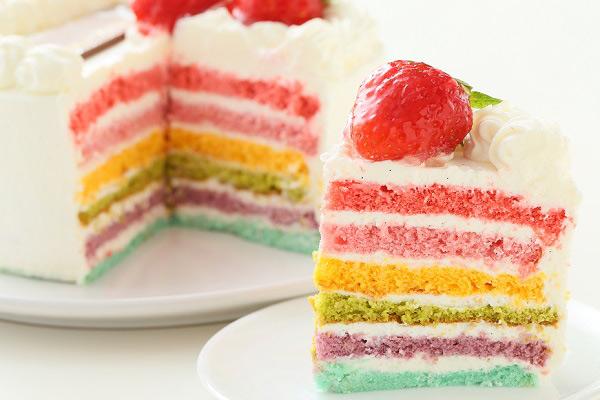 レインボーケーキ  おもしろケーキ