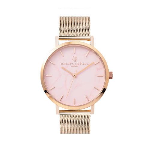クリスチャンポール 腕時計 マーブルメッシュコレクション「ML08PGM 35mm」