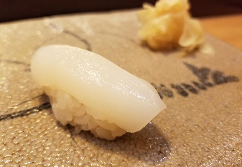 銀座で人気の高級寿司店「すし家 一柳」で食べたランチ イカ