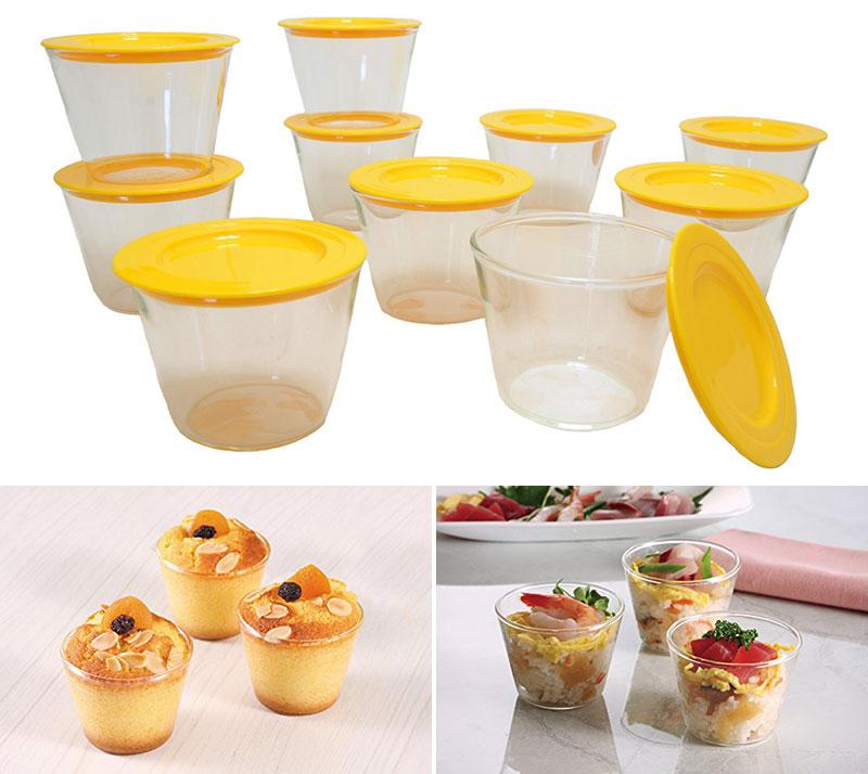 デザートはもちろん、料理にも飲み物にも!「iwaki プリンカップ」<