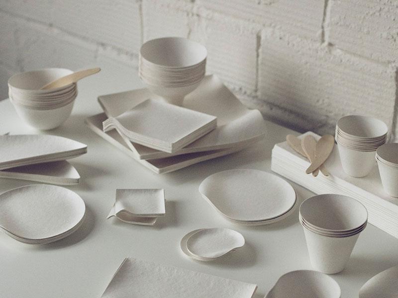 使い捨てには見えないオシャレ&エコな紙皿 「WASARA(ワサラ)」