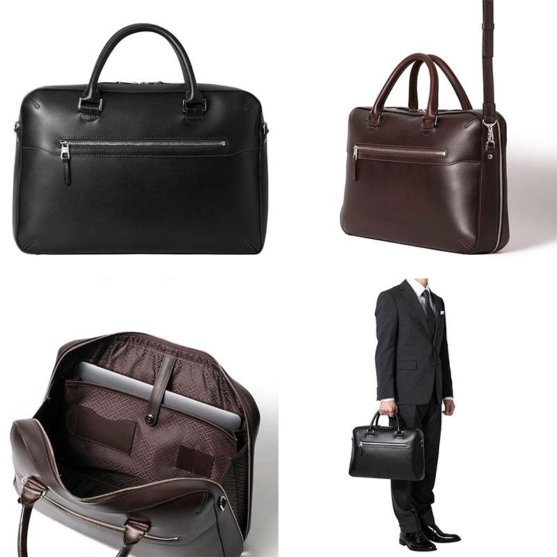 ビジネスバッグ 上質で洗練されたスタンダードなブリーフケース「ST-BF01 ブラック」