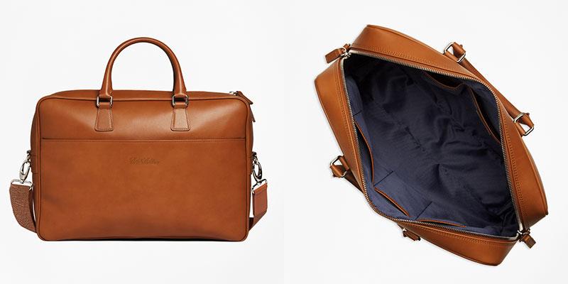 ビジネスバッグ 柔らかなカーフレザーを使用したイタリア製ブリーフケース