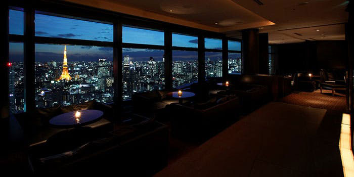 Bar&Lounge MAJESTIC(マジェスティック)|汐留・ラウンジ、バー 店内 夜景