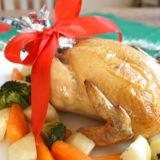 丸ごとチキンで豪華なクリスマス!「ローストチキン」のレシピ・作り方